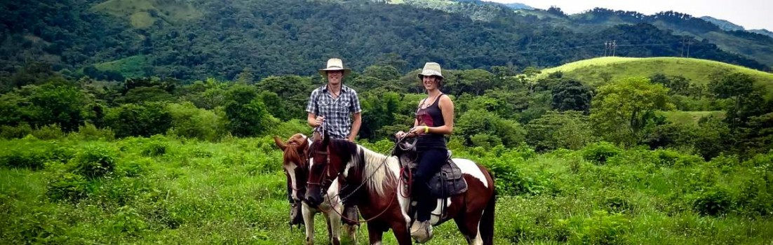 Victor and Jess Horseback Riding on Rubio and Maximo Through Finca El Cisne