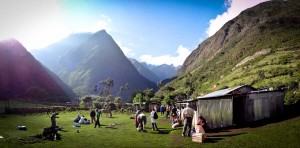 Camping during our Salkantay Trek with Rasgos del Peru