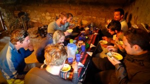 Hikers' Meal Provided by Rasgos del Peru on the Salkantay Trek