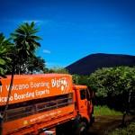 The Volcano Boarding Truck in Leon Nicaragua